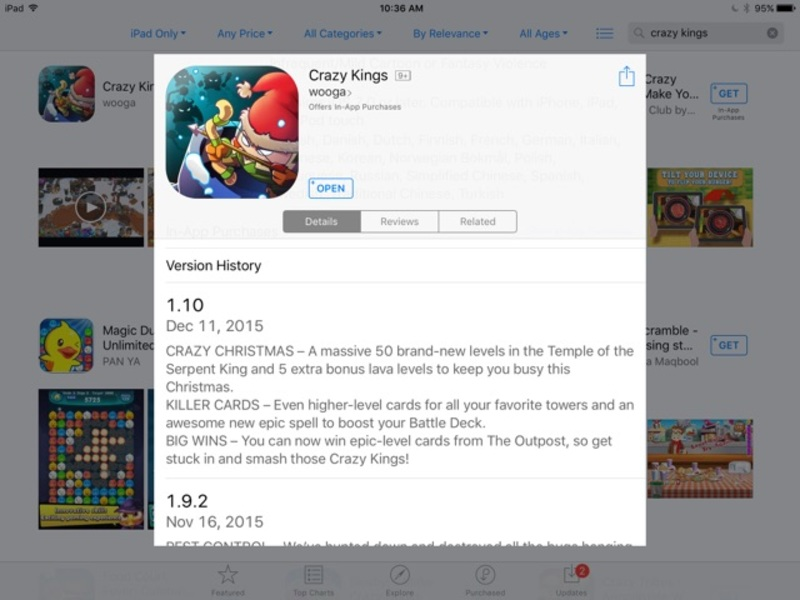 Crazy Kings Tower Defence Game by Ticbits and Wooga  - Crazy Kings Launches Another Huge Update