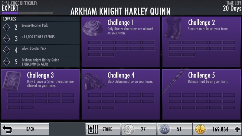Injustice Gods Among Us Arkham Harley Quinn Challenge
