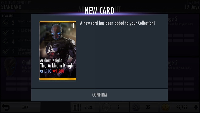 Injustice Gods Among Us The Arkham Knight Card Back
