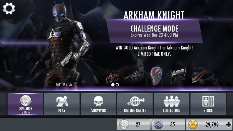 Injustice Gods Among Us The Arkham Knight Challenge