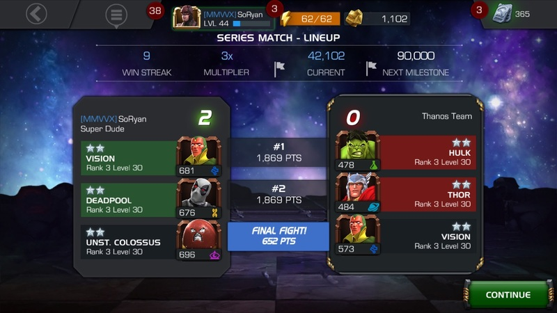 Marvel Contest of Champions Arena