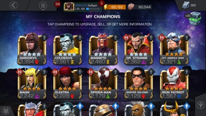 Marvel Contest of Champions Heroes