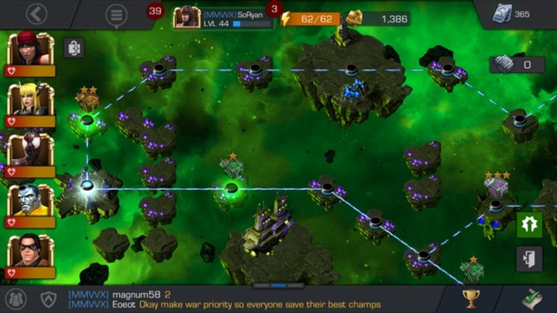 Marvel Contest of Champions Map
