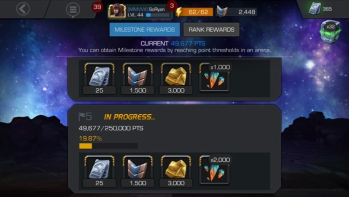Marvel Contest of Champions Milestone Awards