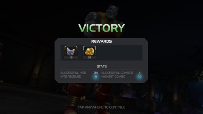 Marvel Contest of Champions Victory