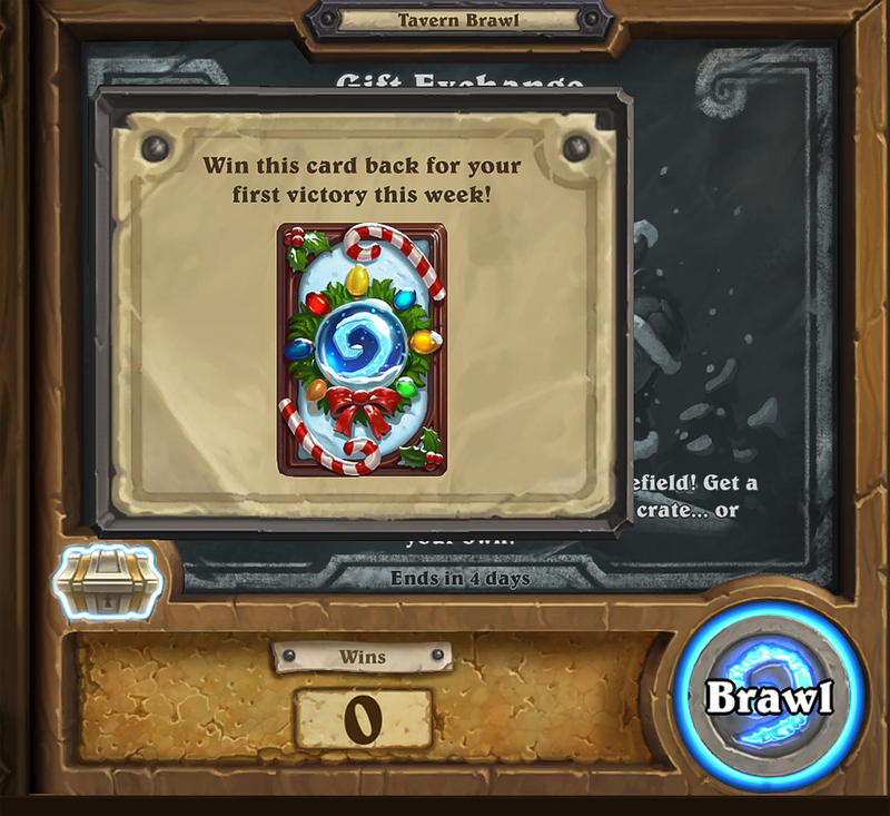 Hearthstone Gift Exchange Tavern Brawl  - Hearthstone Players can now enjoy a Gift Exchange in the newest Tavern Brawl